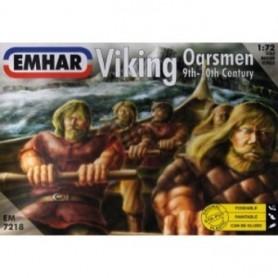 Emhar 7218 Figurer Vikingar som ror, passar till Emhar 9001 Vikingaskepp 9th Century