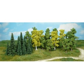 Heki 1230 Mixad skog, lövträd och granar, 26 st, 5-11 cm