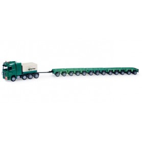 "Herpa 159579 Mercedes Benz Actros LH low boy semitrailer with 16 axles ""Schwandner"""