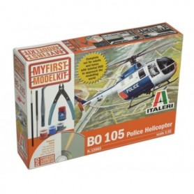 "Italeri 12003 Helikopter BO 105 ""Police Helicopter"" - Perfekt för nybörjaren"