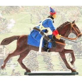 Prince August 937 Karoliner, Kavallerist figur och häst, 40mm höga, gjutform för tenngjutning