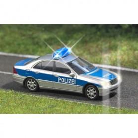 """Busch 5615 Mercedes Benz C-Klass """"Polizei"""" med belysning, med kabel, 14-16V DC eller AC"""