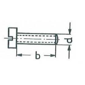 Märklin 785260 Cylinderskruv M3x6 mm, skalle 5,5 mm, svart