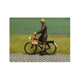 """Bicyc Led 878033 Cykel med belysning """"Kvinna med kappa och handväska"""""""