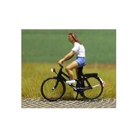 """Bicyc Led 878036 Cykel med belysning """"Kvinna med shorts"""""""