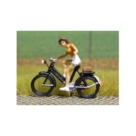 """Bicyc Led 878093 Cykel med belysning """"Kvinna som tänker svänga vänster, klädd i sommarklänning"""""""