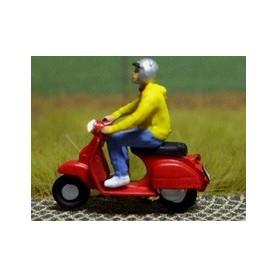 """Bicyc Led 878102 Moped med belysning """"Man med huvtröja och hjälm"""""""