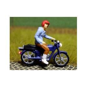 """Bicyc Led 878304 Moped med belysning """"Man som styr med en hand"""""""