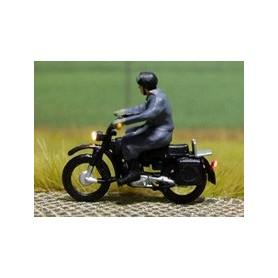 """Bicyc Led 878403 Motorcykel med belysning """"Man med lädermössa och glasögon"""""""