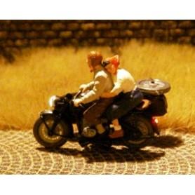 Bicyc Led 878503 Motorcykel med sidovagn med belysning