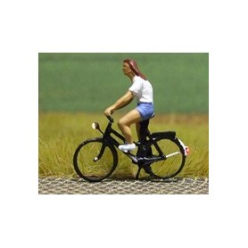 """Bicyc Led 168036 Cykel med belysning """"Blond kvinna med shorts"""""""