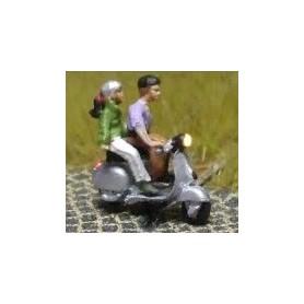 "Bicyc Led 168112 Moped med belysning ""Man skjutsar kvinna"""