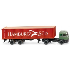 "Wiking 52302 Büssing BS16 Containertrailer ""Hamburg Süd"", 1971"