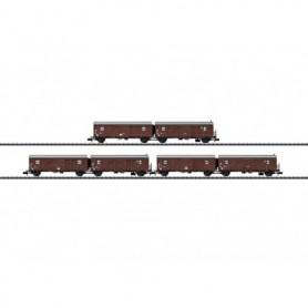 Trix 15515 Vagnsset med 3 st dubbelgodsvagnar typ Hrs-z 330 DB