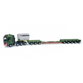 "Herpa 159654 MAN TGX XXL 680 low boy semitrailer ""Wacker"""