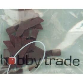 Hobby Trade 93026.2 Kortkoppelkuliss, brun, lång, 2 st, för SJ HBIS