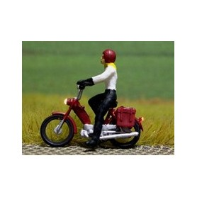 """Bicyc Led 878201 Motorcykel med belysning """"Kvinna med hjälm"""""""