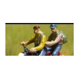 """Bicyc Led 168412 Motorcykel med belysning """"Man som skjutsar man med ryggsäck"""""""