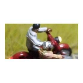 "Bicyc Led 168511 Moped med sidovagn med belysning ""Man som skjutar kvinna"""