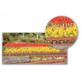 Heki 1819 Gräskant/Grässtripes XL 8 st, gula/röda, 100 mm långa