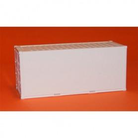 AMW 90629 Container 20-fots, vit, omärkt