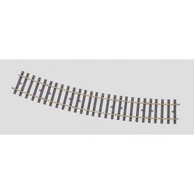 Märklin 59073 Böjd skena, radie 1349 mm. 22,5°. (H1041-2)