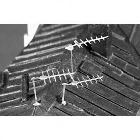 Fryk 204 TV-antenner 60-70-tal, omålad byggsats i nysilver