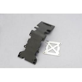 Traxxas 4938 Hasplåt, bakre, svart, med platta