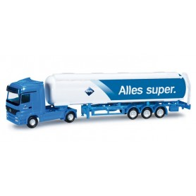 "Herpa 066051 Mercedes Benz Actros LH tank semitrailer ""Aral"""