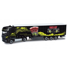 "Herpa 159968 DAF XF 105 SSC curtain canvas semitrailer ""Race Cat"""