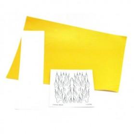 """Parma PSE 10786 Paint Mask """"Flames Design"""", med transfertape och instruktioner, 1 set"""