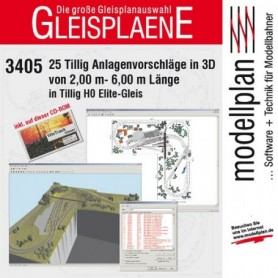 Tillig 09547 Rälsplaneringsprogram i 3D, 25 olika, för Tillig Ho Elite rälssystem