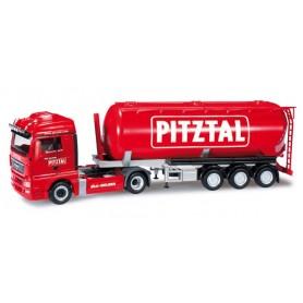"Herpa 301305 MAN TGX XLX bulk tank semitrailer ""Melmer / PITZTAL.com"" (A)"