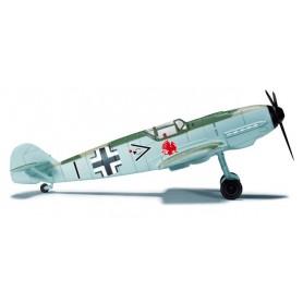 Herpa 744089 Flygplan Luftwaffe JG 26, Hptm. Adolf Galland Messerschmitt Bf 109E