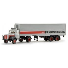 """Brekina 85125 Scania L110 Bil & Kyltrailer """"AGA Frigoscandia"""""""