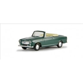 Brekina 29152 Peugeot 403 Cabrio, blågrön