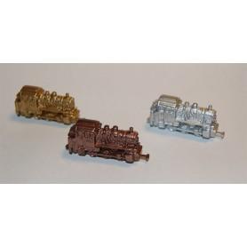 Märklin 022021 Ånglok BR 89 1972, guld, silver, brons, replikor i metall