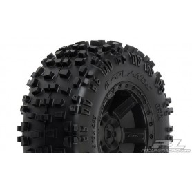"Pro-Line 1173.13 Badlands färdiglimmade 2.8"" All Terrain Tires Mounted on Desperado Black Rear Wheels, 1 par"