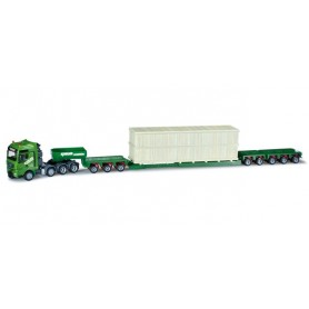 "Herpa 301138 MAN TGX XXL low-boy semitrailer with load ""Kübler"""
