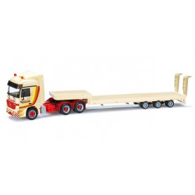 """Herpa 301787 Mercedes Benz Actros L low boy semitrailer with ramps """"Barth"""""""