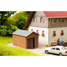 Noch 14353 Garage, mått 6,5 x 4,0 x 3,9 cm, laserskuren