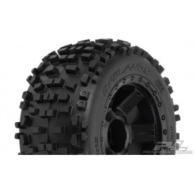 "Pro-Line 1178.11 Färdiglimmade Badlands 3.8"" Tires Mounted on Desperado Black 1/2 Offset 17mm Wheels for 17mm MT Hex, 1 par"