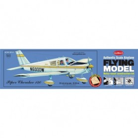 Guillows 307LC Balsaflygplan Piper Cherokee 140, byggsats i trä