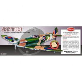 Guillows 403LC Balsaflygplan Supermarine Spitfire WWII Fighter, byggsats i trä