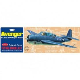 Guillows 509LC Balsaflygplan TBF Grumman Avenger U.S. Navy WWII Bomber, byggsats i trä
