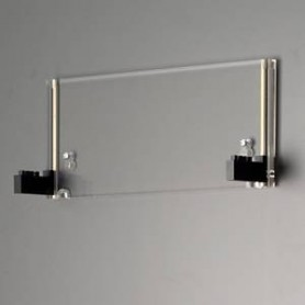 TrainSafe WH-H03L-1E Vägghållare i akryl för 1 vitrin