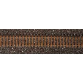 Tillig 86507 Rälsbädd, mörk, för Tillig flexskena 950 mm med stålslipers