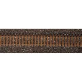 Tillig 86510 Rälsbädd, mörk, för Tillig flexskena 950 mm med betongslipers