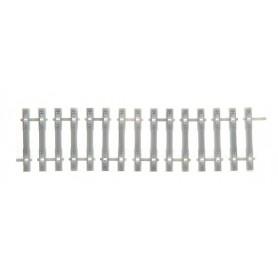 Tillig 85034 Betongslipers rak flexibel, längd 110 mm, utan rälsprofil