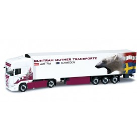 "Herpa 302036 Scania R TL refrigerated semitrailer ""Guntram Muther"" (A)"